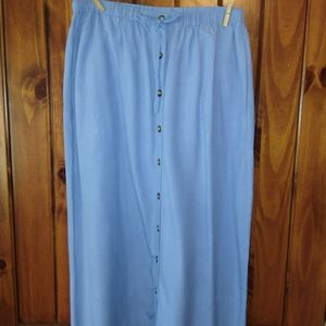 Blue silk Orvis skirt